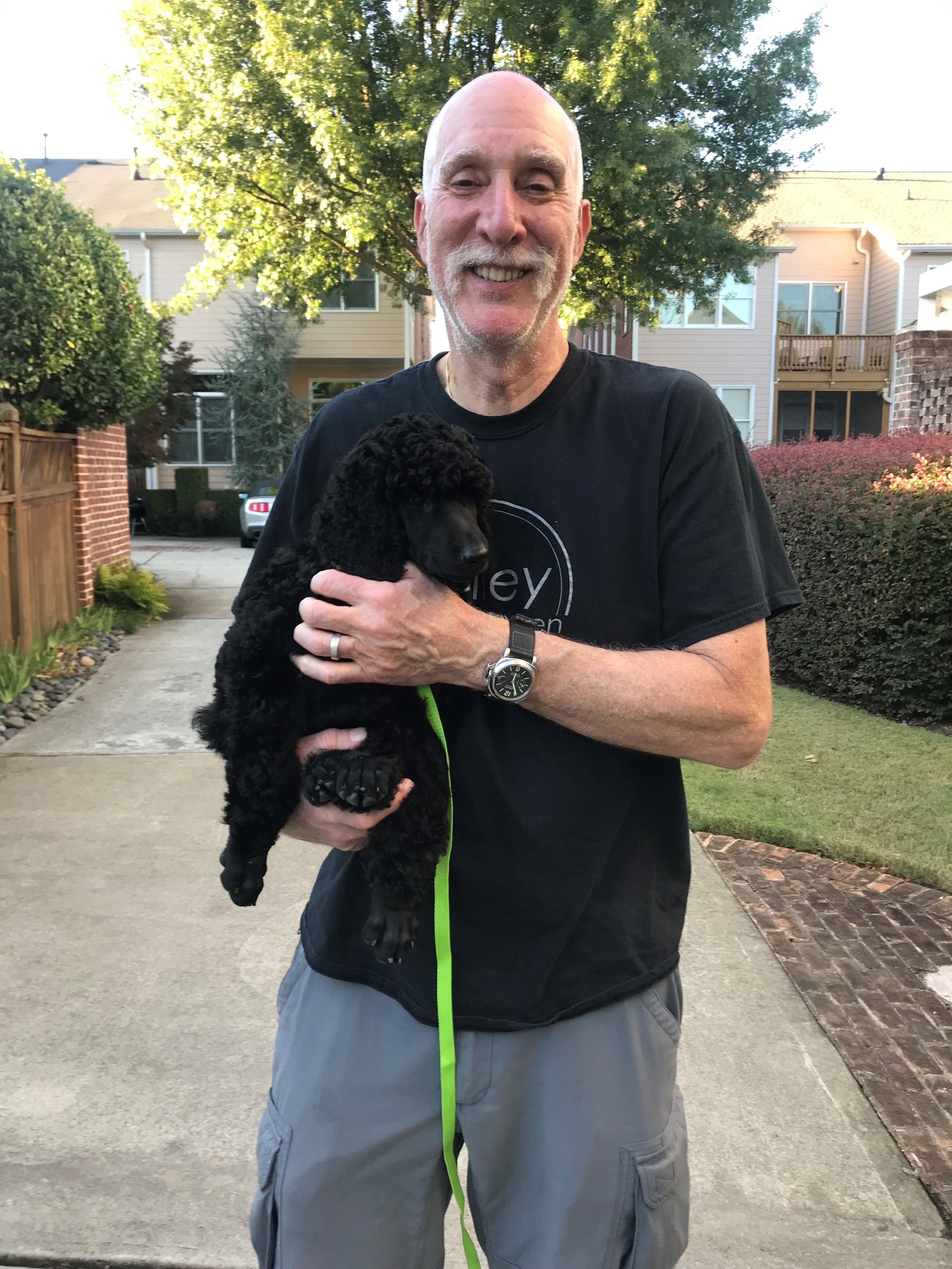 Atlanta Dog Trainer Richard Fischhof and his dog Rocky